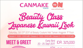 "Beauty Class ""Japanese Kawaii Look"" by Canmake x re:ON Comics"